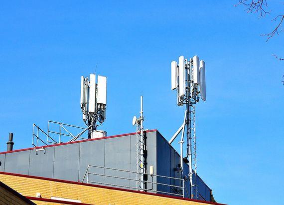antena nadawcza sieci komórkowej