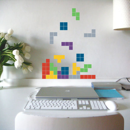 kolorowa naklejka na ścianę