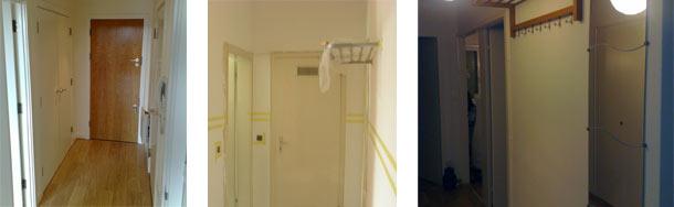 Wąski korytarz, mały przedpokój