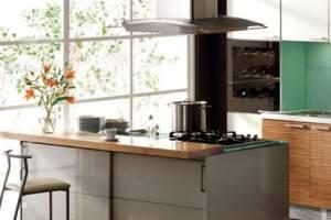 Wyspa w kuchni z płytą kuchenną